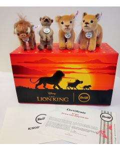 Steiff Disney's Lion King Miniature Mohair Limited Edition Set Mohair 13cm 354922