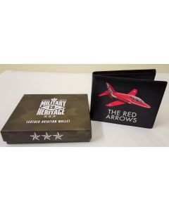 MH127 Red Arrows Leather Aviation Wallet Military Heritage Co by Harvey Makin