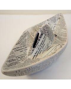 78/4127 Newspaper Sailboat Ceramic Money Box