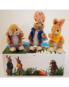 Steiff Peter Rabbit Movie Edition Miniature Gift Set Mohair, 13cm 355622