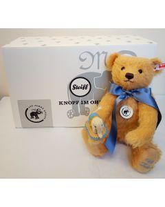 Steiff Teddy Bear with Little Felt Elephant, Mohair, 30cm 006166