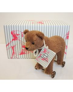 Steiff Bear On Wheels Replica 1904 17cm 403354
