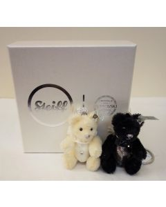 Steiff Miniature Teddy Bear Wedding Pendant Set 034114