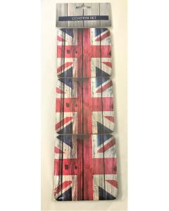 union jack coasters set of 6 by elgate 67659