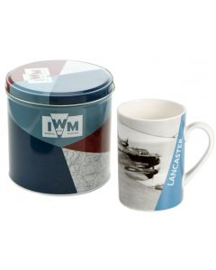 IWM144  Lancaster Photographic Tin with China Mug Set