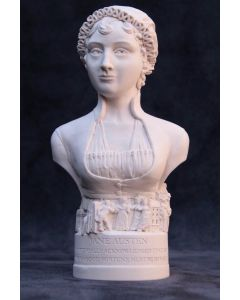 Jane Austen Plaster Bust 13cm by Modern Souvenirs