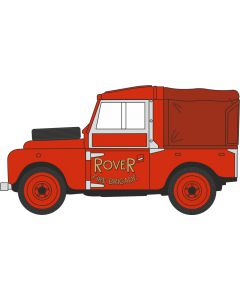 """LAN188010 Land Rover Series 1 88"""" Hard Top Rover Fire Brigade by Oxford Diecast"""