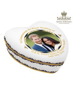 LP18088 Royal Wedding China Heart Box