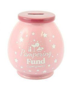 Pampering Fund Ceramic Money Pot by Leonardo LP27858