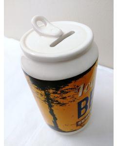 Ice Cold Beer Can Ceramic Money Bank by Leonardo LP28577