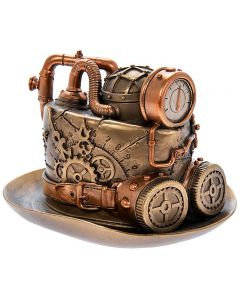 Steampunk Top Hat Bronzed Figure by Leonardo LP45781