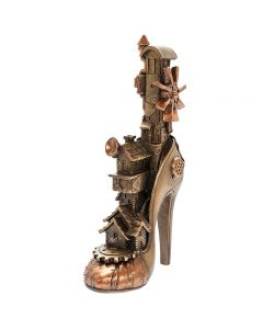 Steampunk Shoe Bronzed Figure by Leonardo LP45782