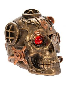 Steampunk Skull Bronzed Figure by Leonardo LP45784