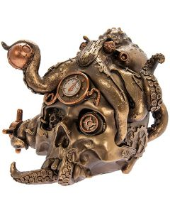 Steampunk Octopus Skull Bronzed Figure by Leonardo LP45788