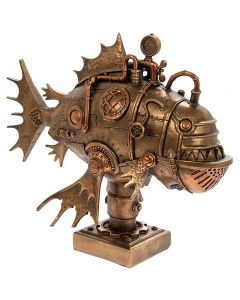Steampunk Fish Bronzed Figure by Leonardo LP45790