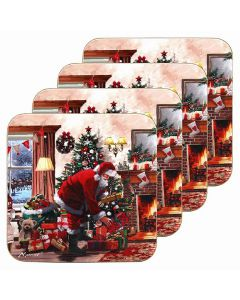 Macneil Xmas Santa Coasters Set of 4 by Leonardo LP51537