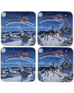 Macneil Magic of Xmas Coasters Set of 4 by Leonardo LP51567