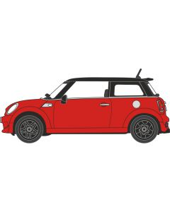 NNMN001 New Mini Chili Red by Oxford Diecast