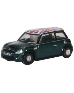 Oxford Diecast NNMN005 New Mini British Racing Green and Union Jack roof