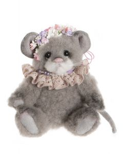 Charlie Bears Pearl Grey Minimo Mouse Wool MM206066A