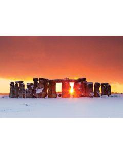 Stonehenge Winter Sunset Poster Tom Mackie PH0471