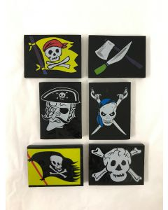Pirate Erasers - pack of 6 S01718