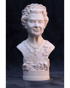 Queen Elizabeth II Plaster Bust 13cm