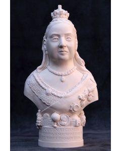 Queen Victoria Plaster Bust 14cm