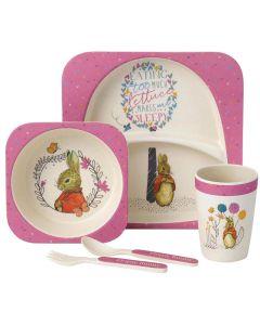 Flopsy Bunny Dinner Set Pink Beatrix Potter | A27756