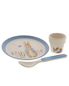 Peter Rabbit Egg Cup Dinner Set Blue Beatrix Potter | A29638