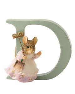 Alphabet Letter D Hunca Munca Sweeping Figurine Beatrix Potter A4996