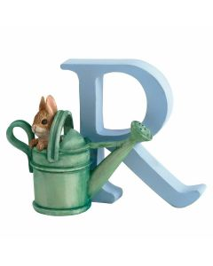 R Alphabet Letter Peter Rabbit Watering Can Figurine Beatrix Potter by Enesco A5010