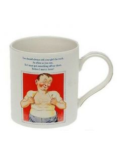 Donald McGill 'You should always tell your girl...' Fine China Mug | LP32655