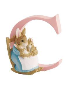Alphabet Letter C Mrs Rabbit & Bunnies Figurine Beatrix Potter by Enesco A4995