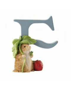 F Alphabet Letter Timmy Willie Figurine Beatrix Potter by Enesco A4998