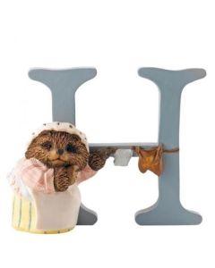 Beatrix Potter Alphabet Letter H Mrs Tiggy-Winkle Figurine by Enesco A5000