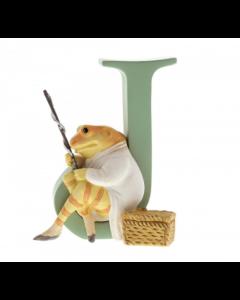 Beatrix Potter Alphabet Letter J Mr Jeremy Fisher Figurine by Enesco A5002