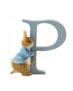 P Alphabet Letter Running Peter Rabbit Figurine Beatrix Potter A5008