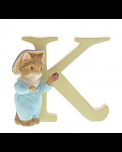 Alphabet Letter K Tom Kitten Figurine Beatrix Potter A5003