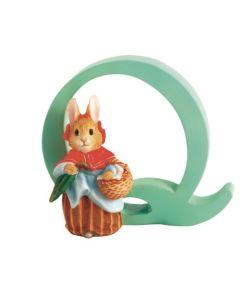 Alphabet Letter Q Mrs Rabbit Figurine Beatrix Potter A5009