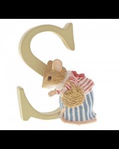 S Alphabet Letter Mrs Tittlemouse Figurine Beatrix Potter by Enesco A5011