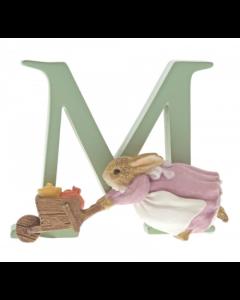 Beatrix Potter Alphabet Letter M - Cecily Parsley Figurine by Enesco A5005