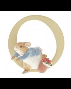 Beatrix Potter Alphabet Letter O Peter Rabbit Figurine by Enesco A5007