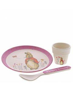 Flopsy Bunny Egg Cup Dinner Set Pink Beatrix Potter | A29185