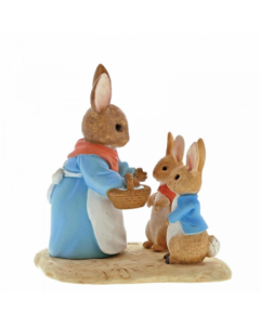 Beatrix Potter Mrs. Rabbit, Flopsy & Peter Rabbit Figurine Enesco A29193