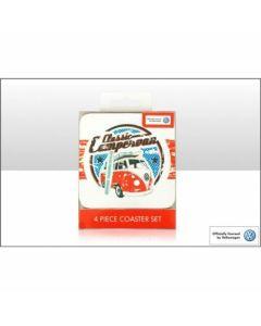 Official Classic Volkswagen Camper 4 Piece Coaster Set Official VW Merchandise
