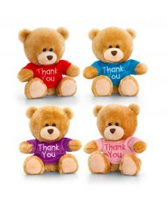 SB0307 Pipp Teddy Bear Thank You sweater 14cm (5.5 inches) by Keel Toys