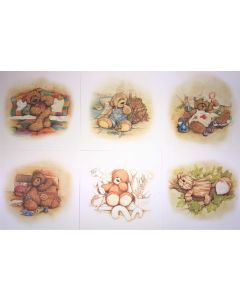 Alice's Bear Shop Set of 6 Art Prints