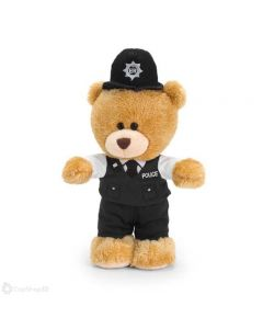 SL1707 Pipp Teddy Bear Policeman with Sounds Standing 20cm (8 inches) by Keel Toys