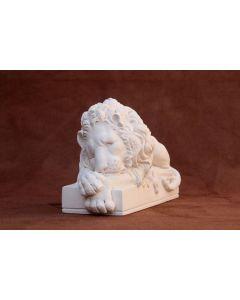 Canova Sleeping Lion Small Plaster Sculpture L21cm